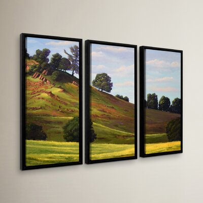 Spring Day 3 Piece Framed Painting Print Set