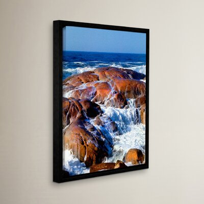 Rocks Awash Framed Photographic Print