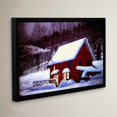 Full Moon in Vermont Framed Painting Print