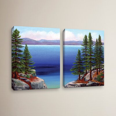 Tahoe Dreams 2 Piece Painting Print on Wrapped Canvas Set Size: 18