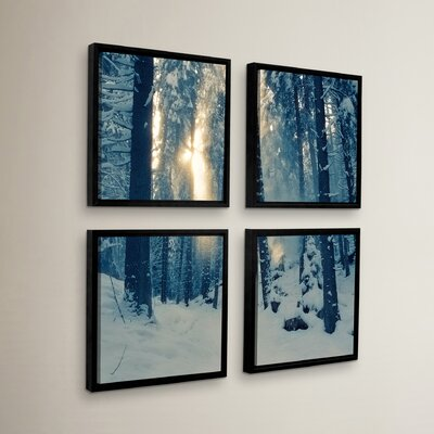 Winter Light 4 Piece Framed Photographic Print Set