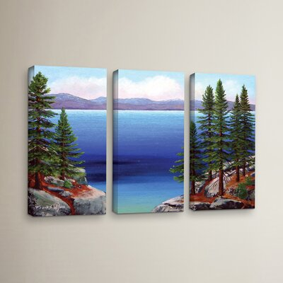 Tahoe Dreams 3 Piece Painting Print on Wrapped Canvas Set