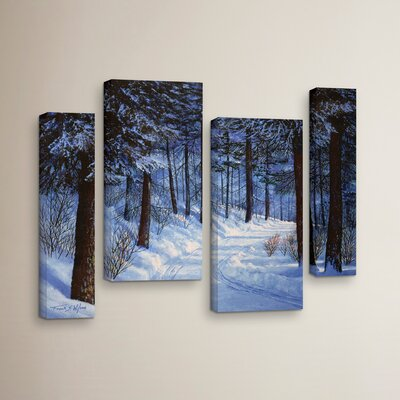 Forest Road 4 Piece Photographic Print on Wrapped Canvas Set