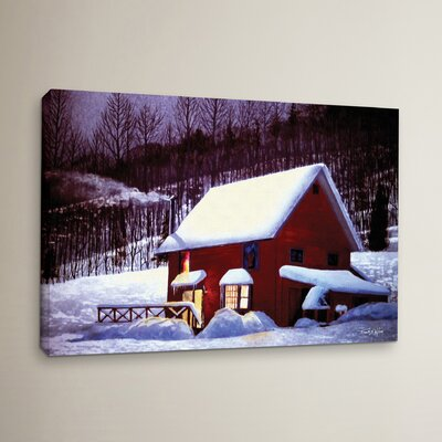 Full Moon in Vermont Painting Print on Wrapped Canvas