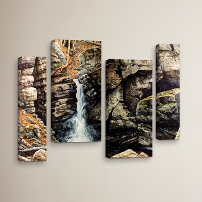 Woodland Falls 4 Piece Photographic Print on Wrapped Canvas Set