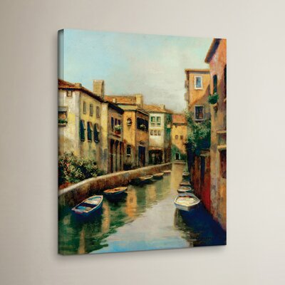 Waterways At Dawn Painting Print on Wrapped Canvas