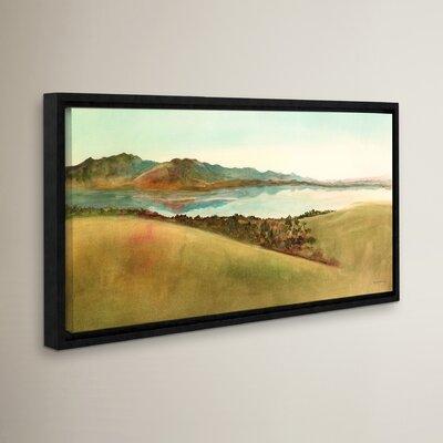 Lago Del Coghinas Sardinia Framed Painting Print
