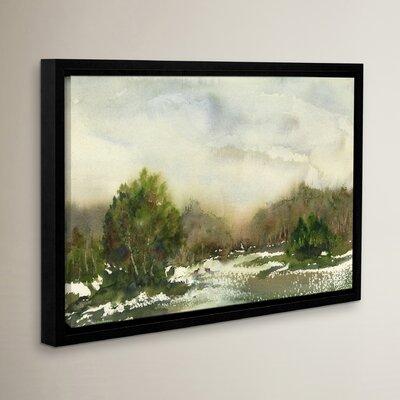 Winter Landscape Framed Painting Print