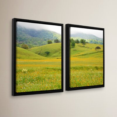 Field of Gold 2 Piece Framed Photographic Print Set