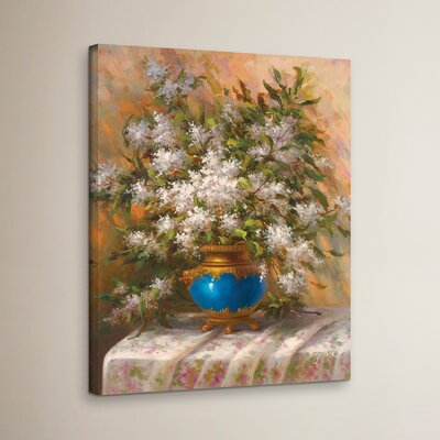 'Elegant Floral I' Print on Wrapped Canvas Size: 18