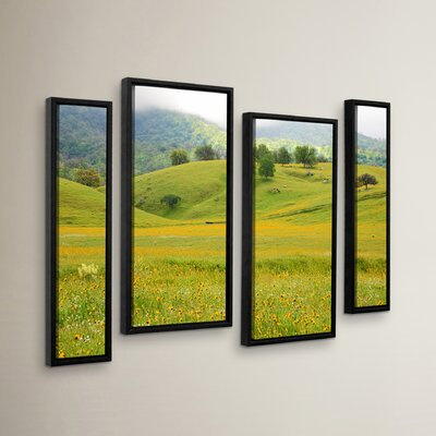Field of Gold 4 Piece Framed Photographic Print Set