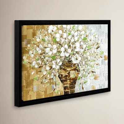 White Bouquet FAA Framed Painting Print