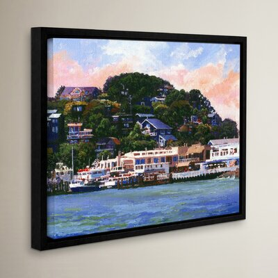 Tiburon California Waterfront Framed Painting Print