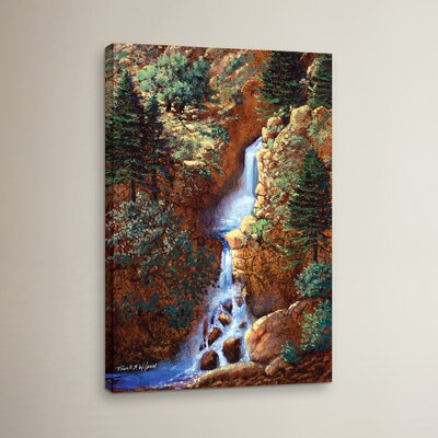 Spring Cascade Painting Print on Wrapped Canvas