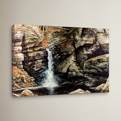 Woodland Falls Painting Print on Wrapped Canvas