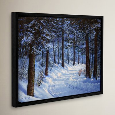 Forest Road Framed Painting Print