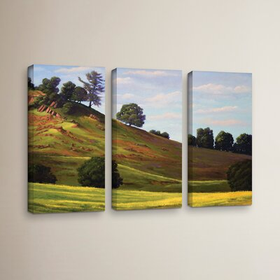 Spring Day3 Piece Painting Print on Wrapped Canvas Set