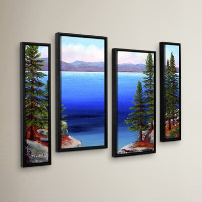 Tahoe Dreams 4 Piece Framed Painting Print Set