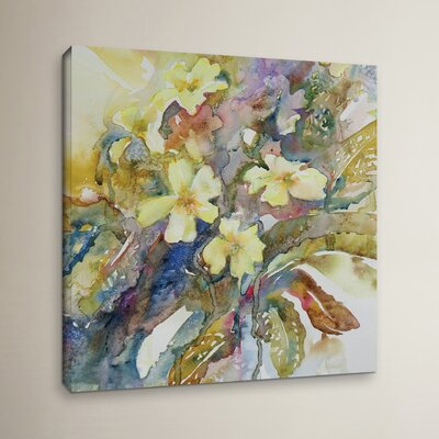 Primroses 2012 Painting Print on Wrapped Canvas