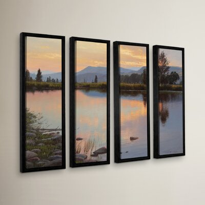 Tranquil Evening 4 Piece Framed Photographic Print Set