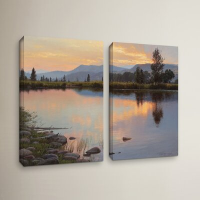 Tranquil Evening 2 Piece Painting Print on Wrapped Canvas Set