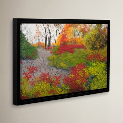 Red Leaves Framed Painting Print Size: 12