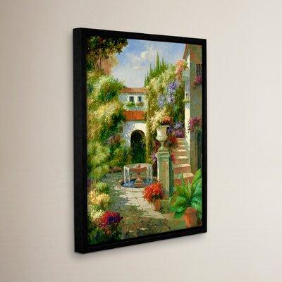 Fontana Di Cortile Framed Painting Print