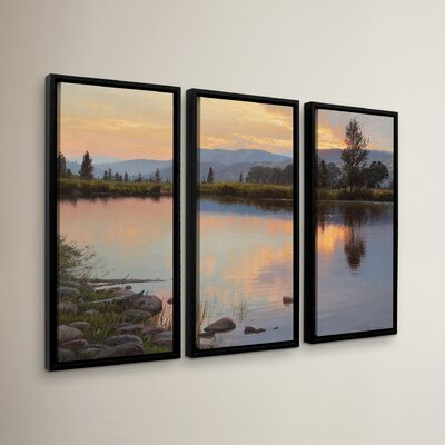 Tranquil Evening 3 Piece Framed Photographic Print Set