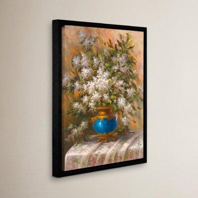 'Elegant Floral I' Painting Print Size: 18