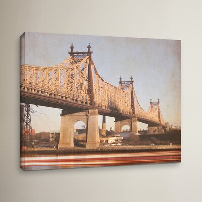 Queens Borough Bridge Photographic Print on Wrapped Canvas