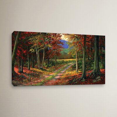 Forgotten Road Painting Print on Wrapped Canvas