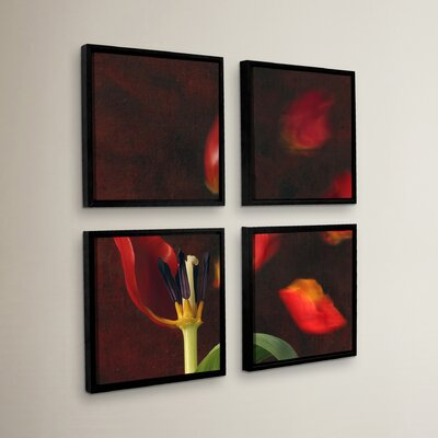 Tulip and Windy Mood 4 Piece Framed Graphic Art Set