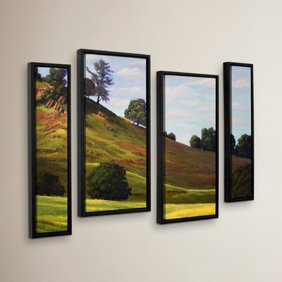 Spring Day 4 Piece Framed Painting Print on Canvas Set