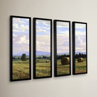 Fresh Cut Hay 4 Piece Framed Photographic Print Set
