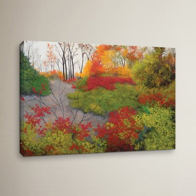 Red Leaves Painting Print on Wrapped Canvas