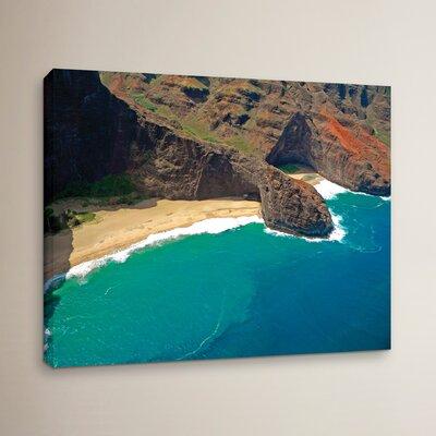 Turtle Head Sea Cave Napali Coast Photographic Print on Wrapped Canvas
