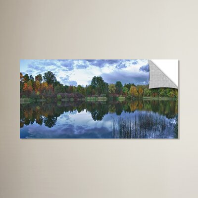 Ohio Pond Fall Panorama Photographic Print