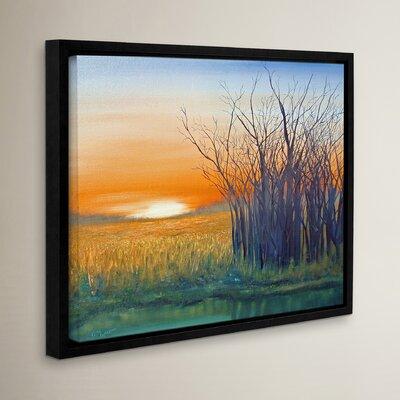 Riverside Sunset Framed Painting Print