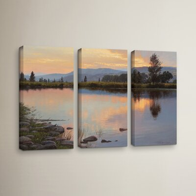 Tranquil Evening 3 Piece Painting Print on Wrapped Canvas Set