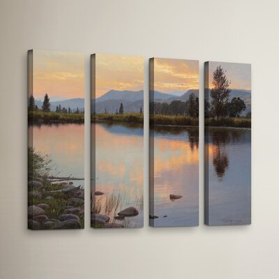 Tranquil Evening 4 Piece Painting Print on Wrapped Canvas Set