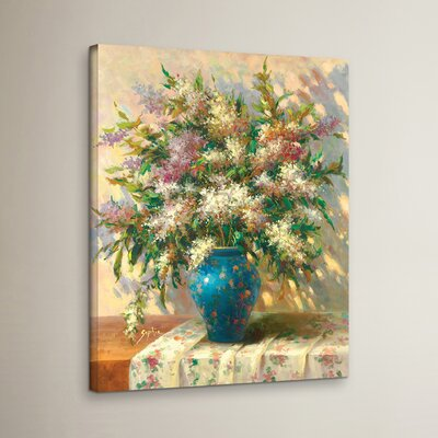 Elegant Floral II Print Wrapped on Canvas