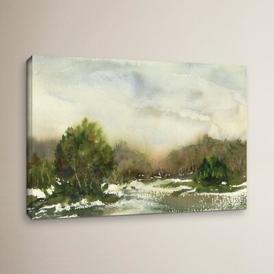 Winter Landscape Painting Print on Wrapped Canvas