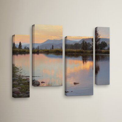 Tranquil Evening 4 Piece Photographic Print on Wrapped Canvas Set