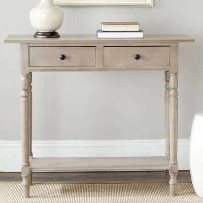 Cable Knit Console Table Finish: Vintage Grey