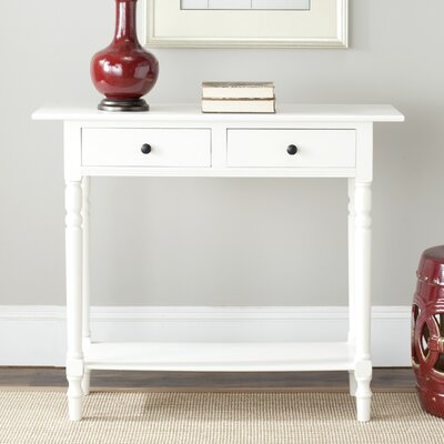 Cable Knit Console Table Finish: Distressed Cream