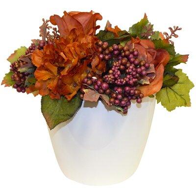 Autumn Floral in Ceramic Vase