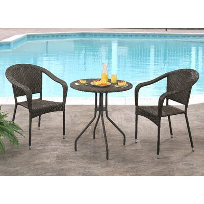 Cummingham 3 Piece Bistro Set
