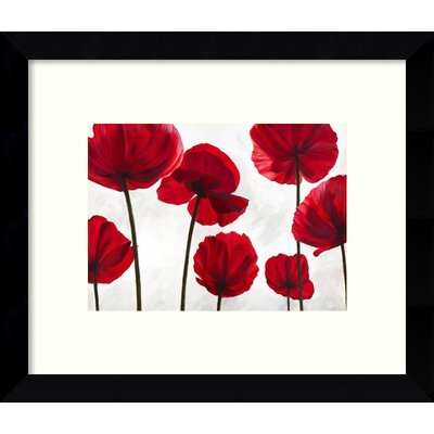 Red Friends Poppies Framed Wall Art