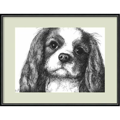 Louie the Cavalier King Charles Dog Framed Painting Print