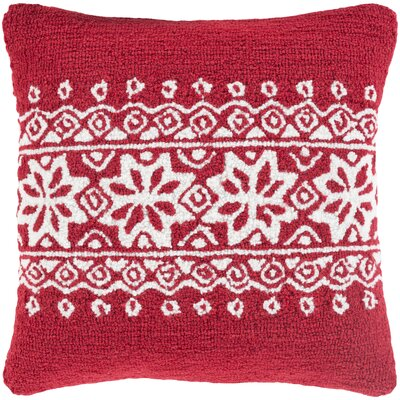 Bridgetown Throw Pillow Fill Type: CoverOnly, Color: Red